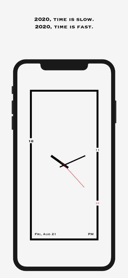 AMClock - 极简、创意、艺术时钟截图0