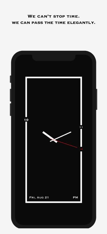 AMClock - 极简、创意、艺术时钟截图1