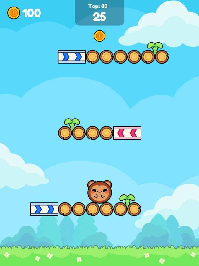 猴子滾動:可愛攀爬截圖0