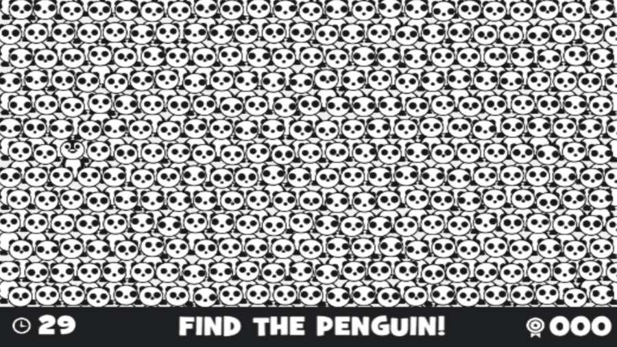捉迷藏的企鵝:黑白尋物截圖0