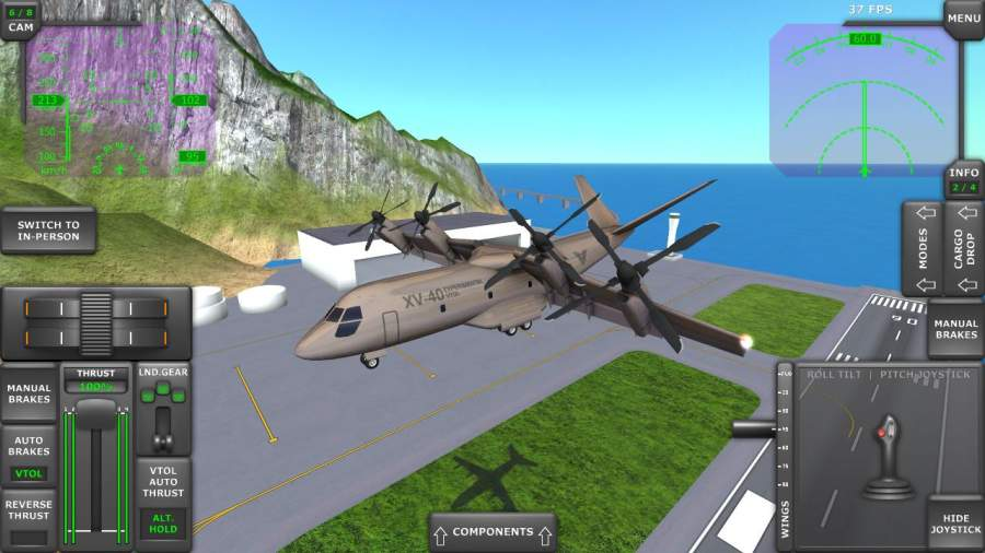 涡轮螺旋桨飞机模拟器截图3
