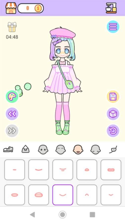 粉彩女孩换装软件截图0