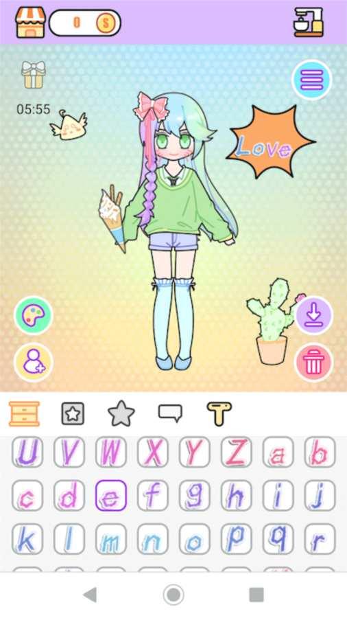 粉彩女孩换装软件截图1