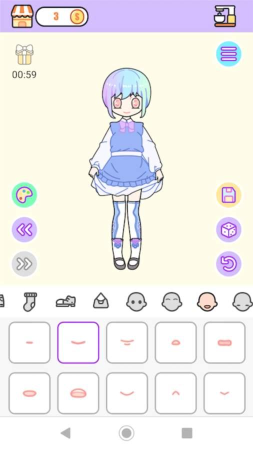 粉彩女孩换装软件截图2