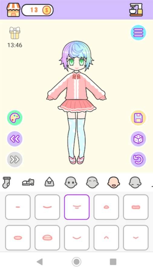 粉彩女孩换装软件截图3