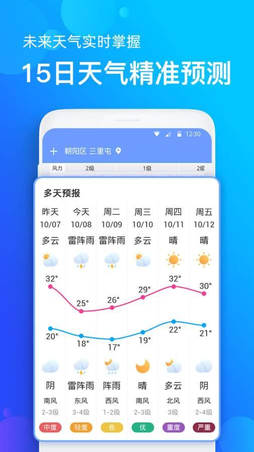 手机天气预报截图2