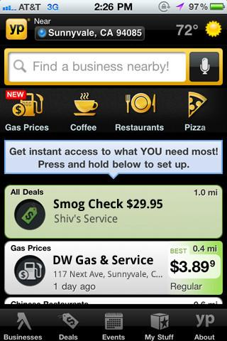 YP Yellow Pages Gas Prices截图1