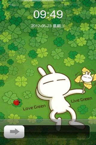 可爱卡通兔版安卓版下载 iPhone滑块解锁 可爱卡通兔版 2.0手机版免