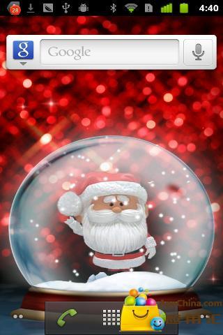 圣诞水晶球动态壁纸简单版