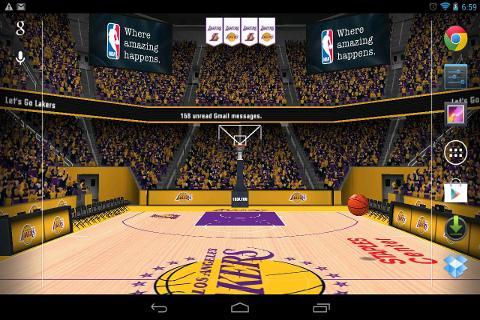 NBA 3D Live Wallpaper截图1