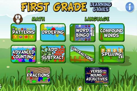 First Grade Learning Games截图1