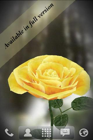 3D Rose Live Wallpaper Free截图3