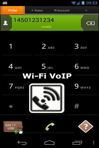 Wi-FI VoIP:撥打 VoIP電話
