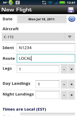 Logbook Pro Pilot Flight Log截图1
