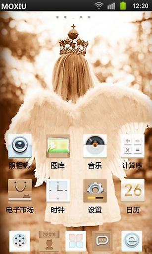 天使不伤悲桌面主题—魔秀|玩工具App免費|玩APPs