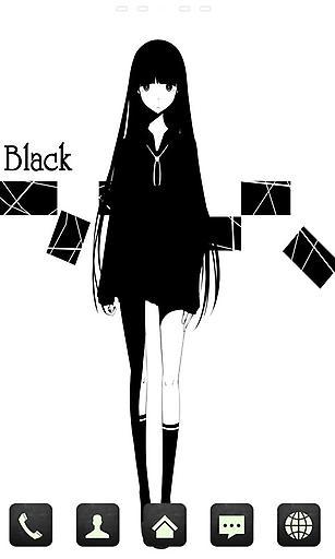 宝软主题-黑猫女孩