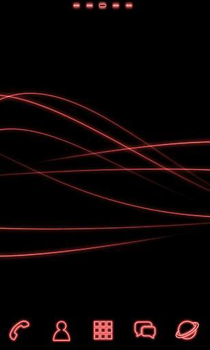 宝软主题-红色荧光世界
