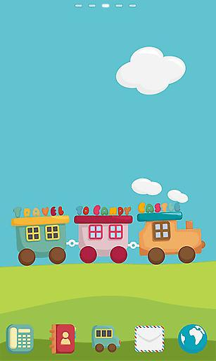宝软主题-彩色小火车截图0