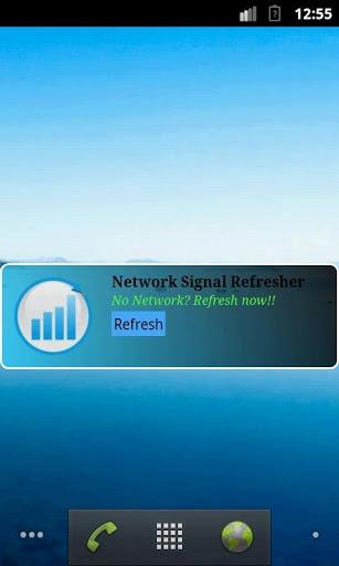 一键刷新网络信号