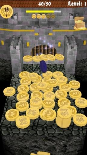 硬币柱塞。中世纪城堡
