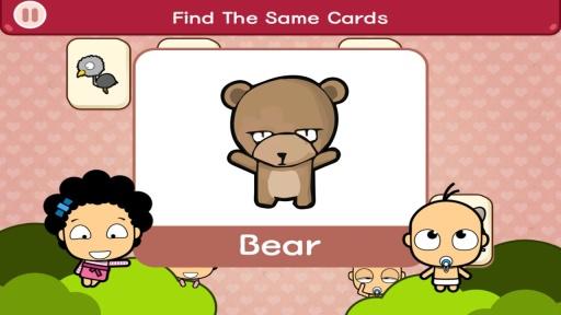 为孩子们学习基本词汇选择一个有趣的方式!  这款游戏能让你的孩子在游戏的过程中学习并巩固动物、色彩、事物等的单词。  游戏中的单词卡都经过精心的设计,符合孩子们的兴趣。  针对手机和平板电脑进行优化。 本游戏利用精心设计的精美学习卡,帮助您的孩子学习。 游戏以连连看的方式进行,完全摆脱无聊烦躁的学习课程, 让孩子们完全凭借自己的兴趣进行游戏。 父母们也可以不用在身旁时时刻刻监督孩子们的学习过程, 为您争取到一些自由时间来休息。    这款游戏适合的年龄段?   A.