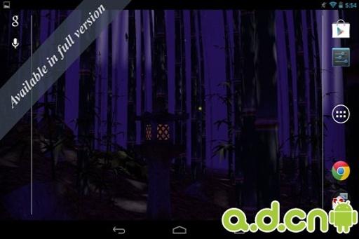 3D竹林动态壁纸 免费版截图1