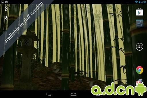 3D竹林动态壁纸 免费版截图2