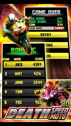 生死时速:暴力摩托 Death Speed:Moto截图1