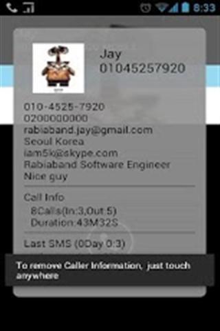 来电显示信息 Caller Info(AD)